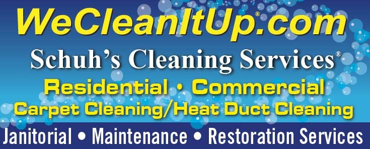 Schuh's Cleaning Services® We Clean It Up® Carpet Cleaning ...